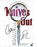 Knives Out cast signed autographed 11x14 photo! Chris Evans & Daniel Craig! AMCo