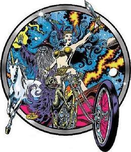 Day Glow Rebellion STICKER Decal Dirty Donny Chopper Goddess Unicorn Wizard DD64