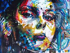 A0 size canvas print - Urban princess modern  graffiti street art