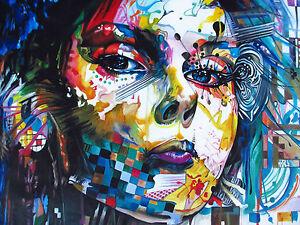 A0 size canvas print painting - Urban princess modern art