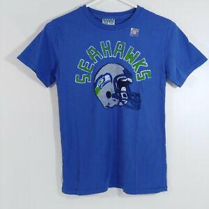 Seattle Seahawks Junk Food Soft Cotton Shirt M 8 Kids Blue Medium