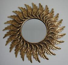 Wandspiegel Sonne Gold Antik Barock Rokoko Spiegel Federn Flügel Edel Luxus NEU