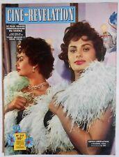 ►CINÉ-RÉVÉLATION 217/1958-SOPHIA LOREN-GIOVANNA RALLI-MARTINE CAROL-ARLETTY...