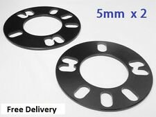 "2 * 5mm SHIM ALLOY WHEEL SPACERS 4x108 5x108 UNIVERSAL FIT FORD 15"" 16"" 17"" 18"""