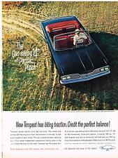 Vintage 1962 Magazine Ad Pontiac New Tempest Gas-Saving 4 With Pontiac Punch