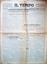 1945 'IL TEMPO' GIORNALE CON NOTIZIE POST BELLICHE BOMBA ATOMICA