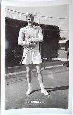 LENNART BERGELIN - 1950's PHOTOGRAPHIC TENNIS POSTCARD