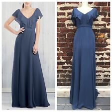 Jenny Yoo 2 Stunning Blue Long Full Length Cecilia Gown Dress Bridesmaid BHLDN