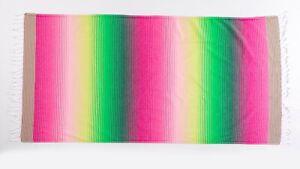 Rainbow Colorful Large Beach Towel, Soft Absorbent Lightweight Turkish Towel