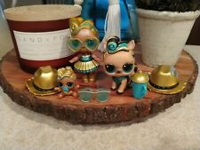LOL SURPRISE ULTRA RARE LUXE BIG SISTER, LIL, & PET RETIRED HUGE LOT DOLLS Gold