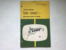 Original! John Deere Operator's Manual 500 & 500H Series Disk Plow Om-A15111