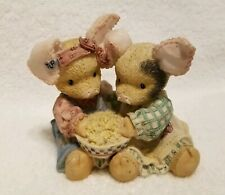 "Enesco This Little Piggy ""Never A Boar With You"" 2 Pigs Eating Popcorn Figurine"