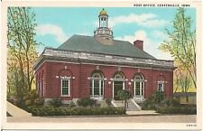 Post Office in Centerville Ia Postcard