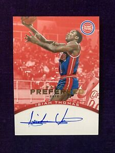 2012-13 Panini Preferred Isiah Thomas Auto #/35 Hard Signed Pistons HOF