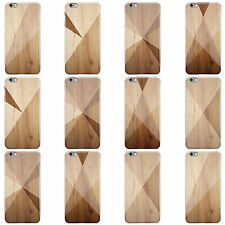DYEFOR GEOMETRIC WOOD COLLECTION HARD CASE COVER FOR APPLE IPHONE MOBILE PHONES