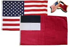 Wholesale Usa & Georgia Republic Country 3x5 3'x5' Flag & Friendship Lapel Pin