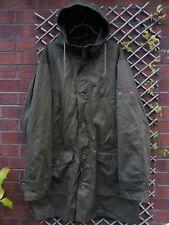 WRANGLER Homme taille XL vert kaki Longueur Genou Coton épais à capuche Manteau de pêche.