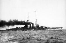 """Photo 1910s """"Ship - Japanese Battlecruiser Haruna on Trial Run"""""""