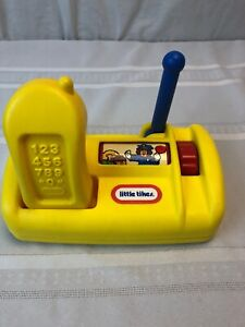 Vintage Little Tikes Yellow Cordless Phone and Base Play Pretend