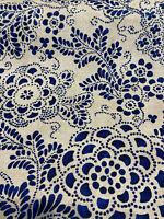 P Kaufmann Katazome Garden Baltic Blue Fabric By the Yard