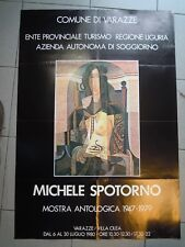 1947-1979 POSTER MOSTRA ANTOLOGICA DEL PITTORE MICHELE SPOTORNO - VARAZZE (MAN)