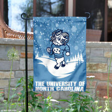 UNC Tar Heels Snow and Winter Garden Flag and Yard Banner