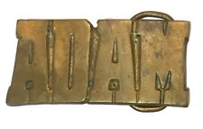 Vtg Solid Brass Adam Name Belt Buckle Men's Gift Idea Funny Jew First Boy brass