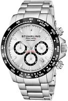 "Stuhrling 891 Men's Sport Formula ""i"" Stainless Steel Quartz Chronograph Watch"