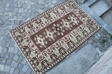 """Vintage Handmade Turkish Anatolian Office Area  Rug Carpet 6'8""""x4'4"""""""