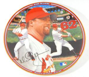 1998 Bradford Mark McGwire Home Run Hero Record Breaker 9-8-98 Plate