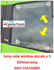 volvo decals x 2 window graphic truck stickers. ANY COLOUR!!! FH FM FMX