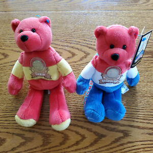 """2-EURO BEAR Plush Collectible Stuffed 9"""" Spain+Netherlands Limited Treasures"""