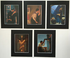 'The Erotic Selection' Jack Vettriano Set of 5 BLACK EDITION Mounted Art Prints