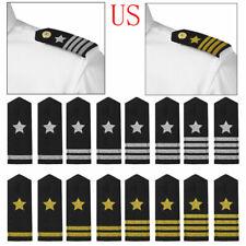 "Board 1-4 Bar Tinsel Star 5"" 2 Traditional Professional Uniform Epaulet Shoulder"