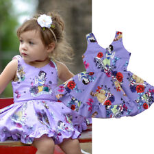 USA Toddler Kids Baby Girls Dress Snow White Princess Party Tutu Dresses Clothes