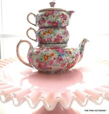 Antique LORD NELSON WARE *MARINA* floral CHINTZ pattern STACKING TEA SET