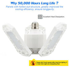 E26 60W Deformable Garage LED Light 6000LM for Workshop Shop Ceiling Fixture CA*
