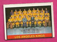 1974-75 OPC # 287 KINGS UNMARKED TEAM CHECKLIST  CARD (INV# C0070)