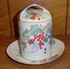 Hand Painted Berries & Leaves Porcelain Jam Jar Rosenthal Selb Bavaria Donatello