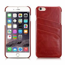 Genuine ICARER Vintage Leather Card-slot Back Cover For iPhone 6 PLUS RED