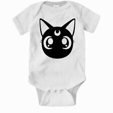 Luna Cat Romper.  Sailor Moon Cute Baby Clothes One Piece Jump Suit Bodysuit