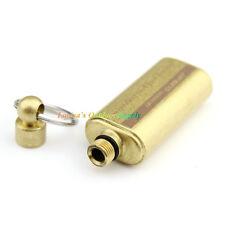 Solid Brass Golden Outdoor EDC Keychain Vintage Oil Lighter Fuel Canister Bottle