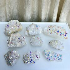 Wholesale Lot 2 Lbs Angel Aura Quartz Cluster Crystal Raw Nice Quality