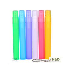 6pcs Spray Bottle Perfume Empty Atomizer Plastic Pen Travel Mini Refillable 15ml