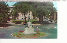 Soldier's Monument  Library and Common  Lynn  MA   Chrome Postcard 2277a