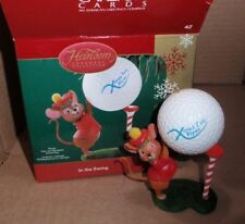 2006 Carlton Cards Christmas Ornament In The Swing Mouse With Golf Ball Euc