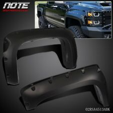Pocket-Riveted Wheel Fender Flares Bolt On For 2007-13 Chevy Silverado 1500 69""