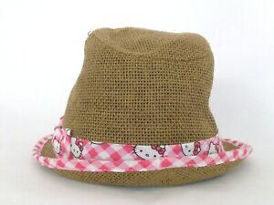 Hello Kitty Fedora Straw Hat for Kids Size S/M (Small/Medium)