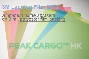 3M Lapping Film Aluminum Oxide Sheets Polishing Abrasive Paper, 8.50 in x 11 in