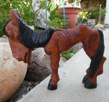 CARVED WOOD FIGURE CARICATURE HORSE H.S. ANDY ANDERSON MASTER WOODCARVER 1936-46
